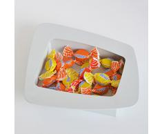 Microstudio - Svuota tasche in acciaio tagliato al laser, Colore: Bianco