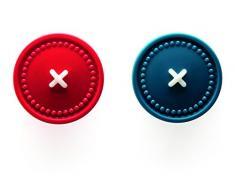 Ototo Button up Appendini Adesivi, Multicolore, 14x17x2 cm, 2 unità
