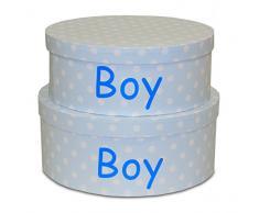 Scatola rotonda Boy S/2, 34 * 34 * 14/31 * 31 * 12)