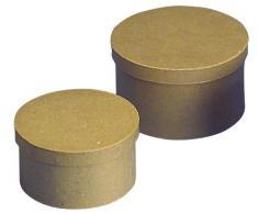 RAYHER - 8132100 - cartapesta scatola rotonda, diametro 14 cm, altezza 8 cm