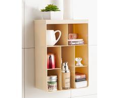 Creativo Camera parete Scaffalature Storage Box (in 4 colori) ( colore : Beige , dimensioni : 18*9*25.5cm )