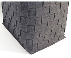 Cesto portabiancheria/Cestino portaoggetti in feltro grigio antracite con maniglie integrate accessorio per il bagno o guardaroba, Feltro, Grande