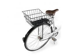 Ducomi Cestino Bicicletta Posteriore Universale per Adulti, Bambina e Bambino - 41 x 26 x 20 cm - Cestino Bici Portaoggetti in Rete di Metallo Plastificata Antiruggine da Portapacchi