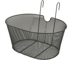 RMS Cestino bici ovale con ganci, nero Oval bike basket with hooks, black