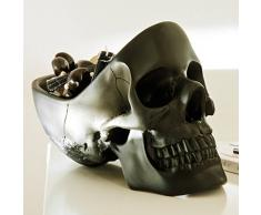 Suck UK Skull Tidy Svuota Tasche, Plastica, Nero