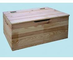 baule in legno tirolese cassapanca 73x35x33