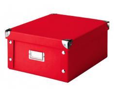 Zeller 17917 Contenitore, Paper, Rosso, 26.5x31.5x14.5 cm