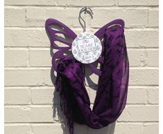 Porta-sciarpe/foulard, colore: viola-Sciarpa 106-161, gancio)