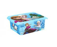 OKT Disney Frozen Scatola Contenitore con Coperchio, Plastica, Celeste, 10 litri, 38 x 14 x 29 cm