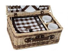 Laguiole cesto de picnic 15pcs.