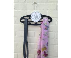 Porta-sciarpe/foulard, colore: nero, sciarpa e cintura, gancio, 106-311)