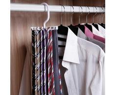 Porta Cravatte rotanti - Porta Cravatte rotanti La Cravatta Regolabile può Contenere 20 Cravatte Organizer da Uomo per Armadio Gancio Rotante Porta Cinture Sciarpe Appendiabiti