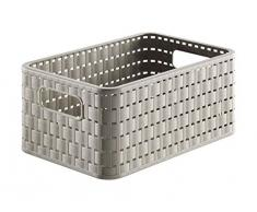 Rotho 1152422000 - Cestino Rattan Country A5 in polipropilene