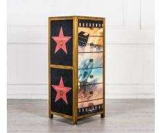 Flow Fusion Design Cassettiera Hollywood Style Con Sei Cassetti
