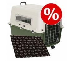 Set Trasportino Feria + Coperta per cani Vetbed® Isobed SL Paw - Misura Trasportino 7 (XL) + Coperta L 100 x P 75 cm