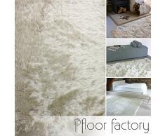 Tapis Shaggy longues mèches Prestige beige crème 140x200 cm - tapis doux à poils extra longs