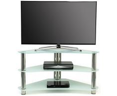 Meuble tv transparent design unique pour un mobilier - Meuble tv angle verre ...