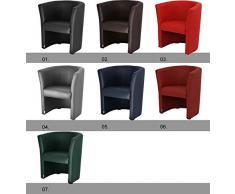 Fauteuils cabriolet en simili cuir vert W042_07 imitation cuir couleur vert