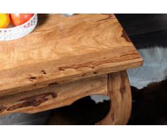 Bean bag bazaar oPIUM table basse en bois de sheesham massif 60 x 60 cm