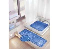 Kleine Wolke 5313769001 Bubble Tapis de Bain Antidérapant Bleu 36 x 92 cm