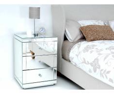 un chevet miroir pour un style design livingo. Black Bedroom Furniture Sets. Home Design Ideas