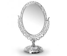 Relaxdays Miroir de maquillage miroir cosmétique design antique ovale