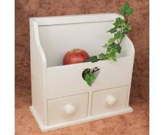 DanDiBo Commode Mini commode avec 2 tiroirs 12236 Etagère 28cm Coffret à bijoux Shabby Etagère