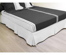 Cache sommier plateau 3 plis 160x200 cm blanc