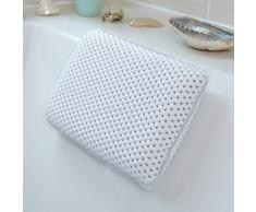 Bathroom Oreiller de relaxation résistant à l'eau pour baignoire Blanc Oreiller soutenant la nuque pour baignoire