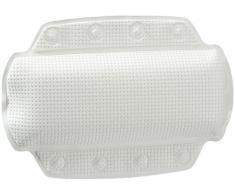 Spirella 1070523 Coussin de baignoire pour la nuque Alaska, Blanc 32 x 23 cm