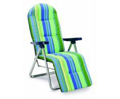 Best 33300085 Nizza Relax Chaise Longue Argente Vert