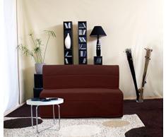 Relaxima 260BCHOA Vanda Banquette-Lit Accordéon Chocolat 150 x 105 x 90 cm