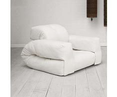LITTLE HIPPO, un fauteuil hyper malin qui se transforme en lit futon en quelques secondes - déco et design - Fauteuil Natural / Bouton Natural