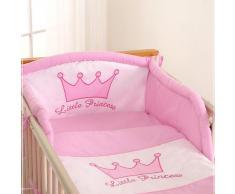 Tour de lit bébé - 120*60 ou 140*70 – Princesse rose
