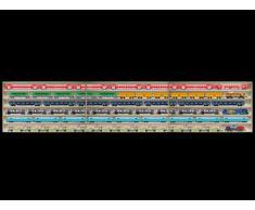 3E11ALRM Vitrine étagère murale avec vitres en plexiglas clair largeur totale 210 cm, 3 éléments: droite milieu gauche: 210 cm x 58 cm x 10,5 cm Avec rainures pour échelle H0 collection miniature moto collecteur dé à coudre