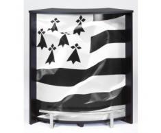 Comptoir de Bar Blanc Imprimé capitonné