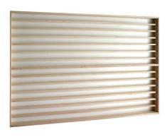V85a - Vitrine murale avec rainure 125 cm x 84 cm x 6 cm collection miniature SNCF collecteur affichage pion petit objet mini bouteille vitres en plexiglas clair meuble rangement étagère compartiment exposition paroi arrière blanche