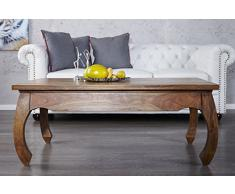 Riess Ambiente Opium Table basse originale en bois de Seesham massif 115 cm