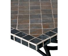 Siena Garden 431282 Ponza Table Acier/Céramique Antracite/Aspect Mosaïque 150 x 90 cm