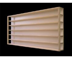 E22AM Vitrine murale element partie milieu (ouvert sur les cotés à droite et à gauche) 60 x 58 x 10,5 cm avec vitres en plexiglas clair, rainures pour échelle H0 collection miniature moto collecteur dé à coudre tableau d'affichage