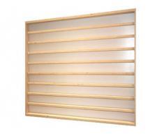 V09- Vitrine murale 54 cm x 55 cm x 7,5 cm collection miniature collecteur affichage pion petit article vitres en plexiglas clair meuble rangement étagère armoire bois nature