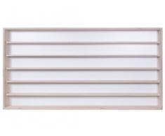 V11a - Vitrine murale 70 cm x 58 cm x 8,5 cm collection miniature collecteur affichage pion petit article vitres en plexiglas clair meuble rangement étagère armoire bois nature