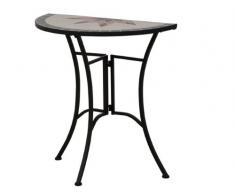 Siena Garden 875354 Stella Table d'Appoint Acier Noir/Aspect Mosaïque