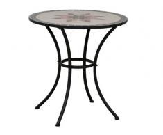 Siena Garden 875346 Stella Table Acier Noir/Mosaïque 70 cm