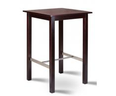 Table de bar bistro table pin massif - couleur wengé 75x75 - BT-75/111