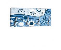 Porte-manteau avec crochets motif arbre bleu dG059 crochet porte-manteaux mural