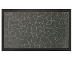 Tapis Déco Tapis dEntrée Galets Polypropylène/Cao Gris 75 x 45 cm