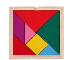 niceeshop(TM) Jouets éducatifs en Bois Colorés Puzzle Géométrique Manuel de Formation Puzzle Cerveau