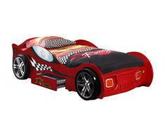 Vipack SCTR200R Turbo Racing Lit Voiture MDF Rouge 225 x 111 x 63 cm