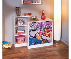 Links 20704010 FSC Gamme Kidz Graffiti 1 Commode Multicolore 108 x 41 x 83 cm